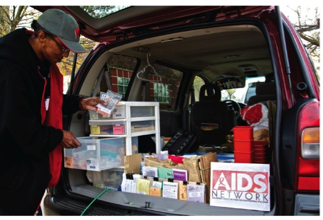 AIDS Network prevention outreach.
