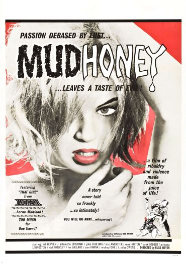 """The theatrical poster from the film """"Mudhoney,"""" on which the cover art for the album is based."""