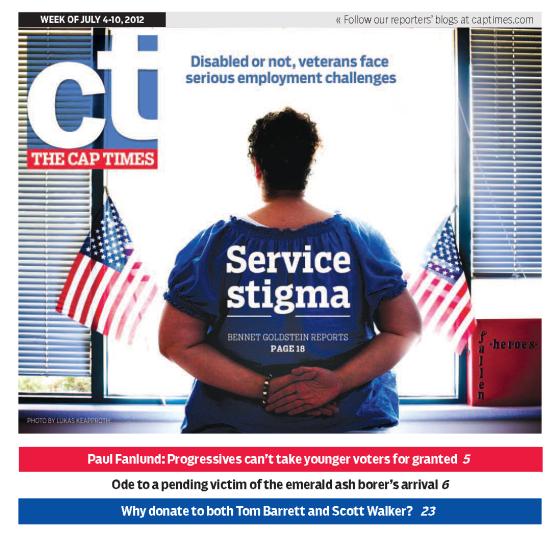 Service Stigma: Capital Times newspaper Cover Story